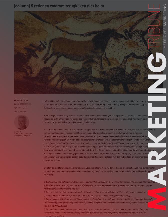 Speciaal is het nieuwe normaal. Column op marketingtrubine.nl